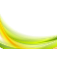 abstract bright green and orange wavy background vector image