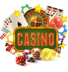 Casino Frame vector image