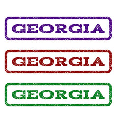 georgia watermark stamp vector image