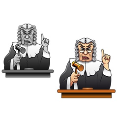 judge with gavel for law concept design in cartoon vector image