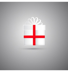 White Gift Box vector image vector image