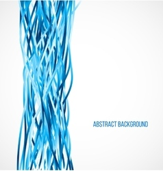 Absract blue background with vertical lines vector image vector image