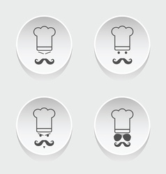 chef cooking icon vector image