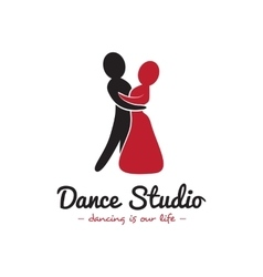dance studio logo Dancing couple logotype vector image vector image