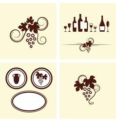 Grape vines elements set vector image vector image