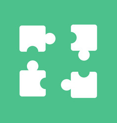 Icon on background kids puzzle vector
