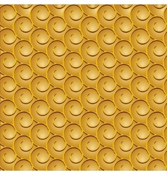 spirals seamless gold vector image vector image