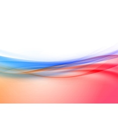 Transparent swoosh wave border in red and blue vector image