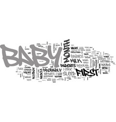 baby s first month at a glance text word cloud vector image vector image