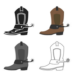 cowboy boot icon cartoon singe western icon from vector image vector image