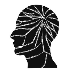 crack people head vector image
