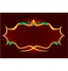 gold retro neon vector image vector image