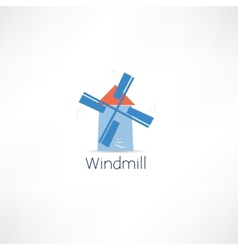 windmill icon vector image vector image