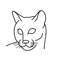 animal cat icon design clip art line icon vector image