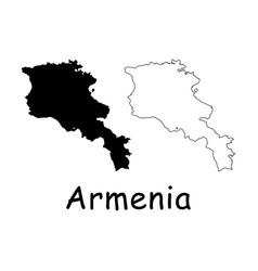 Armenia map vector