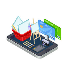 artistic tools online store concept vector image