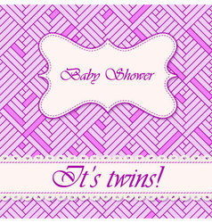 Baby-shower-abstract-background-twins-2 vector