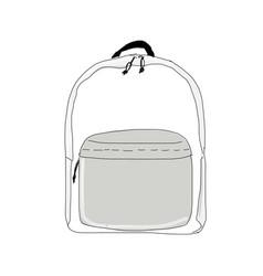 backpack mockup sketch for your design vector image