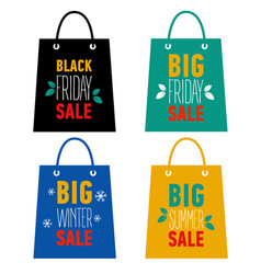 big winter summer holiday black friday sale vector image