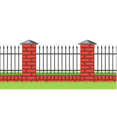 Bricks fence with forging vector