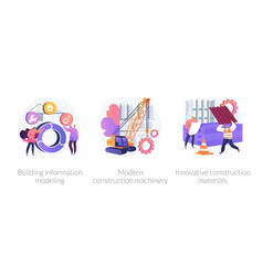building contractors services abstract concept vector image