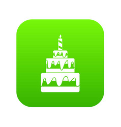 cake icon digital green vector image