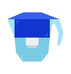 Carafe water filter Flat icon object vector image