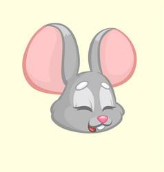 Cartoon funny mouse vector
