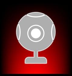 chat web camera vector image