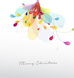 Christmas with abstract colorful flower vector image