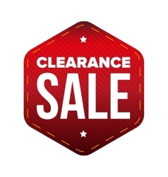 Clearance Sale patch vector image