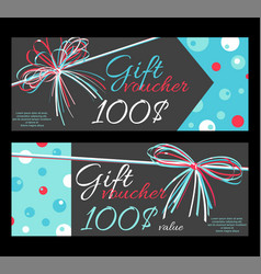 collection of horizontal gift vouchers vector image
