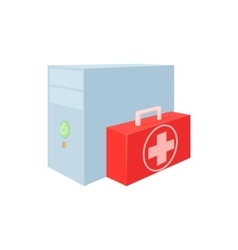 Computer repair icon cartoon style vector
