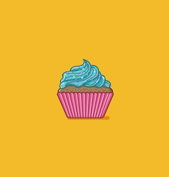 Cupcake Flatten vector image vector image