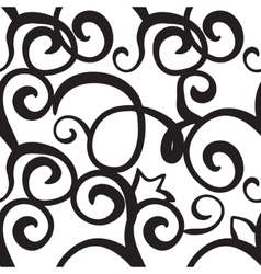 Curly or Swirly hand drawn background vector