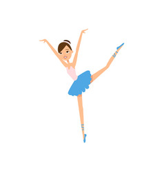 cute happy smiling ballerina dancing girl school vector image