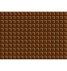 Dark chocolate bar background texture vector image