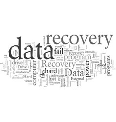 Data recovery programs what to look for vector