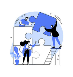 dedicated team abstract concept vector image