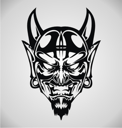 Devil Face Tribal vector image