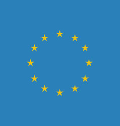 eu flag in closeup vector image