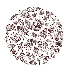 Flowers Ornament Circle Background vector image