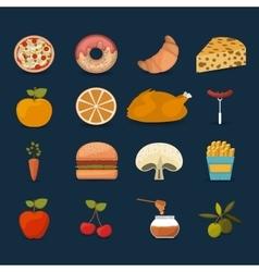 food set icons design vector image