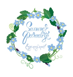 Forget me not round frame 380 vector
