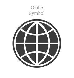 globe icon flat style on white background vector image