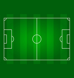 Green color football stadium field top view vector