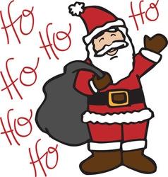 Ho Ho Santa vector