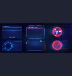 Hud ui gui futuristic user interface screen vector