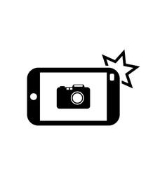 Icon of Smart phone for Photo Selfie vector image