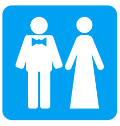just married persons rounded square icon vector image